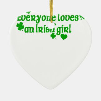 IRISH girl g Ceramic Ornament