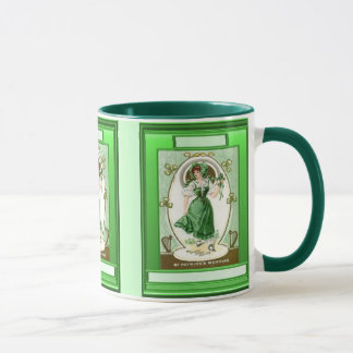 Irish girl wearing the green mug