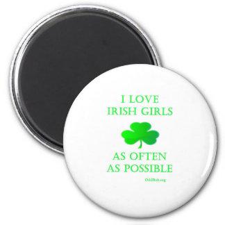 Irish Girls 2 Inch Round Magnet