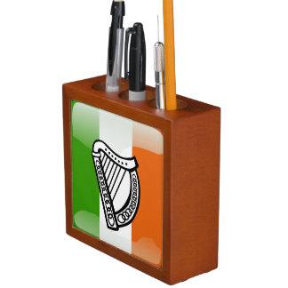 Irish glossy flag desk organizer