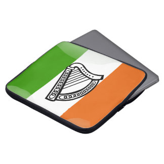 Irish glossy flag laptop computer sleeve