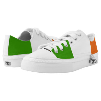 Irish glossy flag Low-Top sneakers