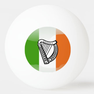 Irish glossy flag ping pong ball