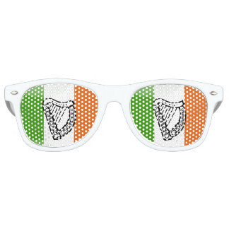 Irish glossy flag retro sunglasses
