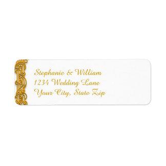 Irish Gold Wedding Return Address Label