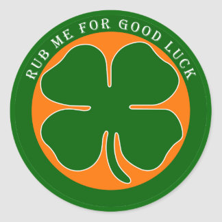 Irish - Good Luck Classic Round Sticker