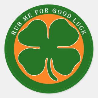 Irish - Good Luck Round Sticker