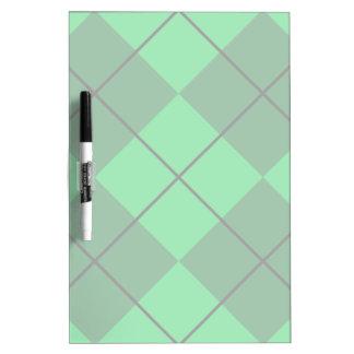 Irish Green Argyle Dry-Erase Whiteboard