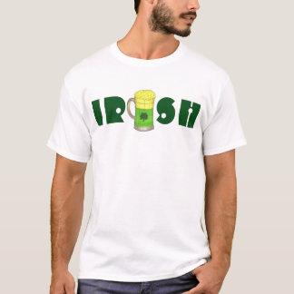 IRISH Green Beer Mug Shamrock St Patrick's Day Tee