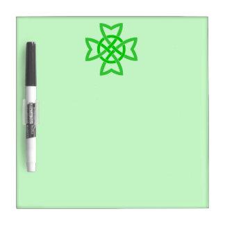 Irish Green Celtic Knot Dry Erase Whiteboard