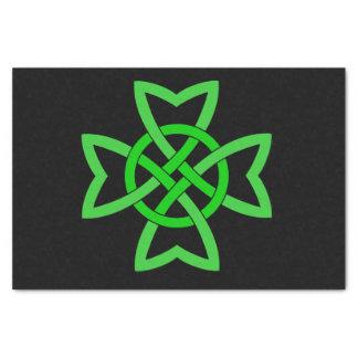 Irish Green Celtic Knot Tissue Paper