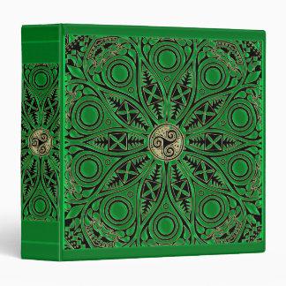 irish Green Celtic Triskele Mandala Binder