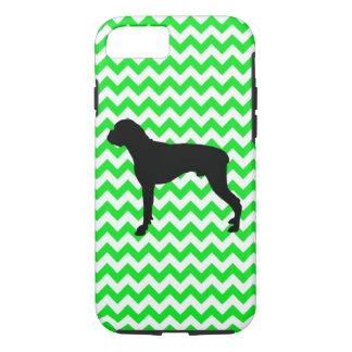 Irish Green Chevron with Boxer iPhone 7 Case
