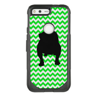 Irish Green Chevron with Bulldog OtterBox Commuter Google Pixel Case