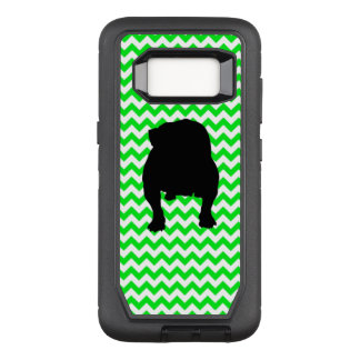 Irish Green Chevron with Bulldog OtterBox Defender Samsung Galaxy S8 Case