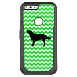 Irish Green Chevron with Golden Silhouette OtterBox Commuter Google Pixel XL Case