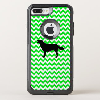 Irish Green Chevron with Golden Silhouette OtterBox Commuter iPhone 8 Plus/7 Plus Case