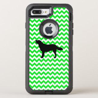 Irish Green Chevron with Golden Silhouette OtterBox Defender iPhone 8 Plus/7 Plus Case