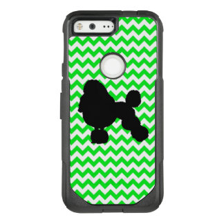 Irish Green Chevron with Poodle Silhouette OtterBox Commuter Google Pixel Case