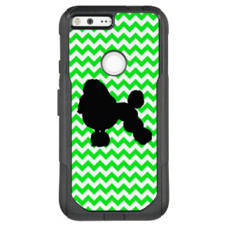 Irish Green Chevron with Poodle Silhouette OtterBox Commuter Google Pixel XL Case
