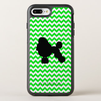 Irish Green Chevron with Poodle Silhouette OtterBox Symmetry iPhone 8 Plus/7 Plus Case