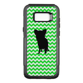 Irish Green Chevron with Yorkie Silhouette OtterBox Commuter Samsung Galaxy S8+ Case