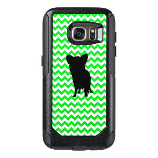 Irish Green Chevron with Yorkie Silhouette OtterBox Samsung Galaxy S7 Case