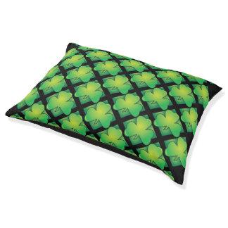 Irish Green Clover Pattern Large Dog Bed