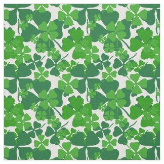 Irish, green clover, shamrock fabric print