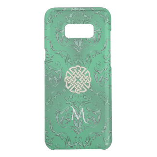 Irish Green Damask With White Gold  Celtic Knot Uncommon Samsung Galaxy S8 Plus Case
