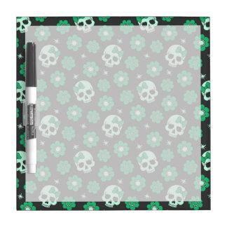 Irish Green Goth Skulls Dry-Erase Board