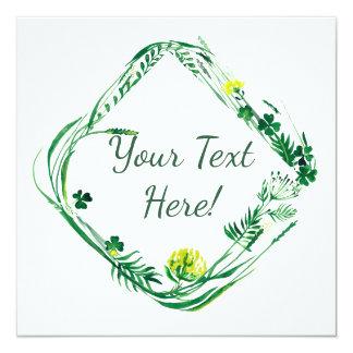 Irish green herbs card