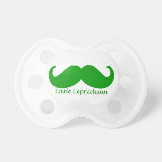 Irish green moustache and little leprechaun pacifier