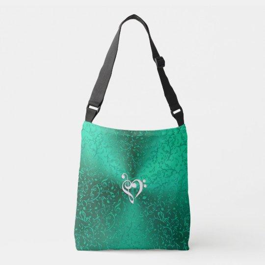 Irish Green Music Notes Tote Bag