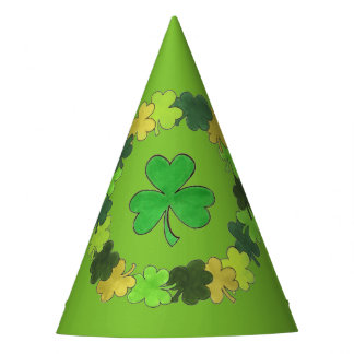 Irish Green Shamrock Clover St. Patrick's Day Party Hat