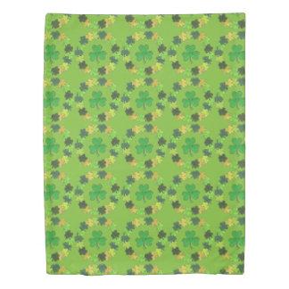 Irish Green Shamrock Wreath Lucky Clover Bedding Duvet Cover