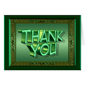 Irish Green Thank You Card