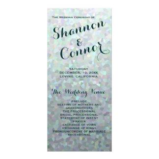 Irish Green Wedding Program Full Colour Rack Card