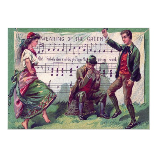 Irish Gypsy Wearing of The Green Jig Card