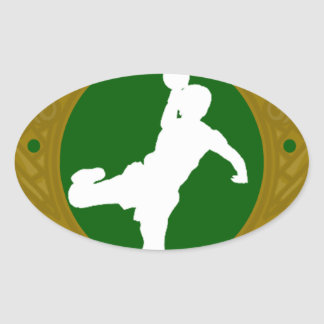 Irish Handball.png Oval Sticker
