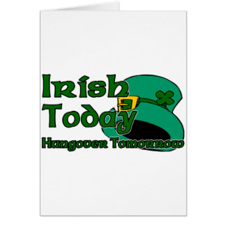 Irish Hangover Card