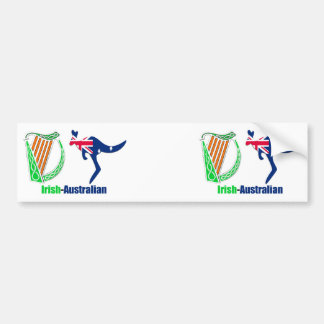 Irish Harp-Australia flag Bumper-Sticker Bumper Sticker