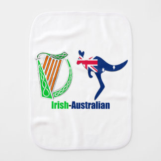 Irish Harp-Australia flag Burp-Cloth Baby Burp Cloth