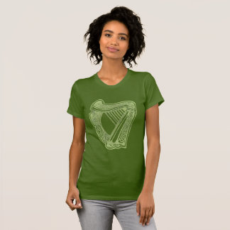 Irish Harp Éireann Cláirseach Symbol of a Nation T-Shirt