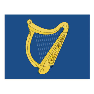 Irish Harp Postcard