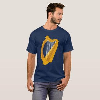 Irish Harp Symbol blue background T-Shirt
