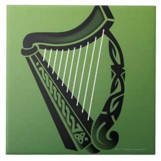 Irish harp tile