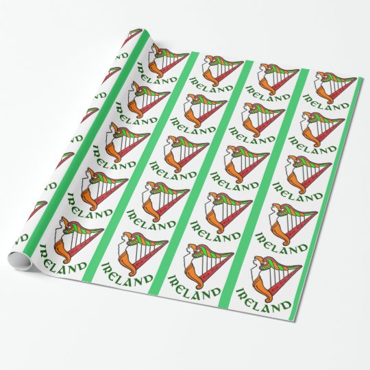 Irish Harp wrapping paper