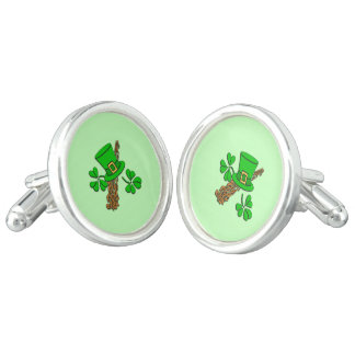 Irish Hat Green Cuff Links