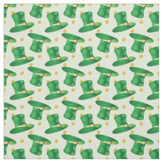 irish Hat st patricks day pattern Fabric